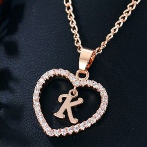 Heart shaped letter necklace